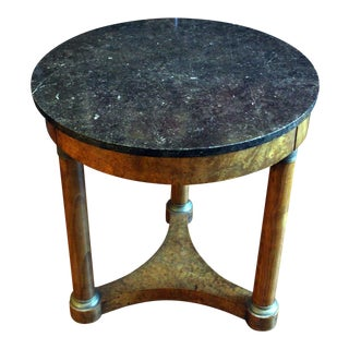 French Empire Marble Top Gueridon Table For Sale