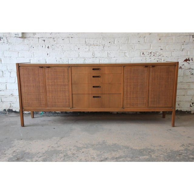 Mid-Century Modern Woven Front Credenza by Founders For Sale - Image 11 of 11