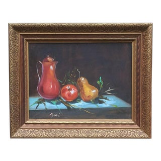 Original Bindi Still Life Oil Painting For Sale