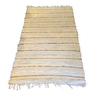Handwoven Cotton Indoor/Outdoor Rug - 3′4″ × 5′10″ For Sale