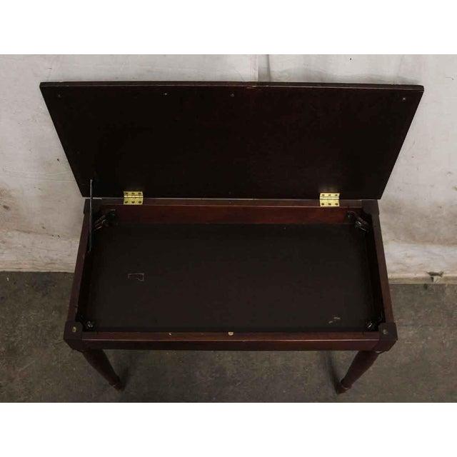 Vintage Flip Top Storage Table For Sale - Image 4 of 10