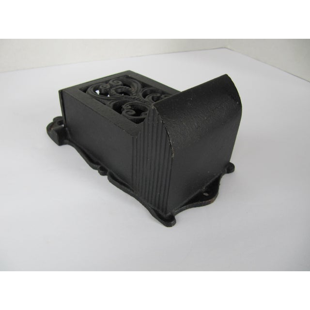 Black Cast Iron Match Safe For Sale - Image 4 of 5
