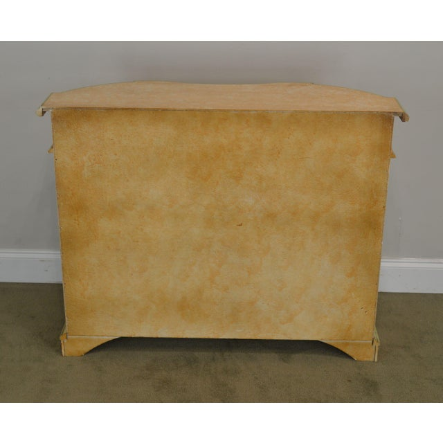 1990s Italian Hand Painted Narrow Serpentine Console Cabinet For Sale - Image 5 of 13