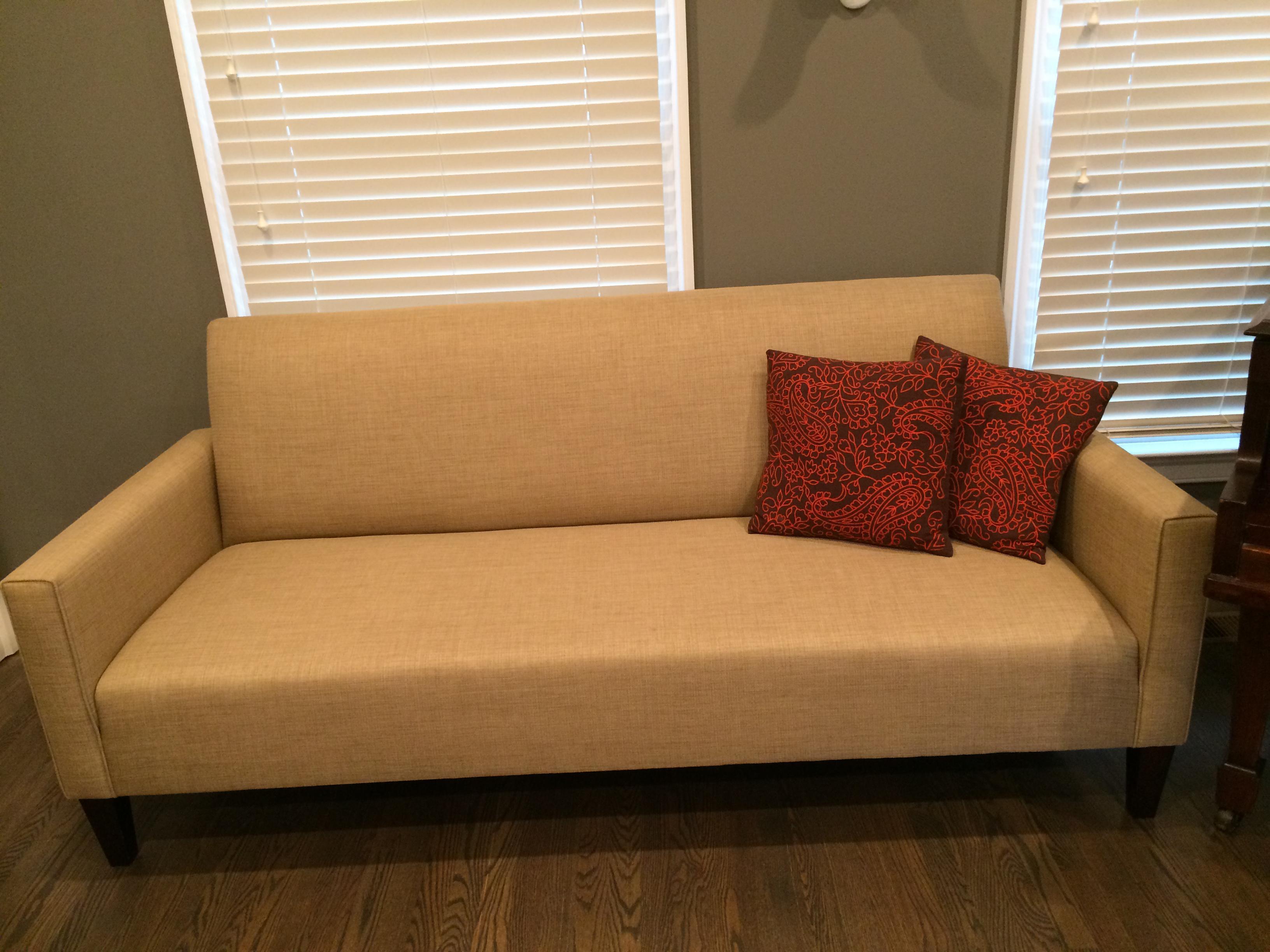 Moden Crate Barrel Tightback Sofa Chairish