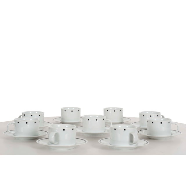 David Ehrenreich Coffee Cups and Saucers for Sasaki - Set of 9 For Sale In Chicago - Image 6 of 6