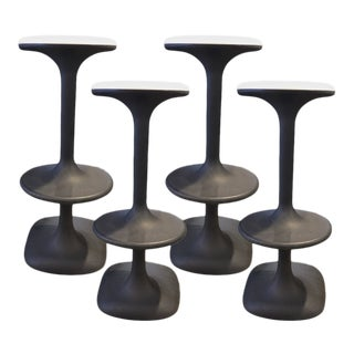 20th Century Industrial Karim Rashid Kant Bar Stools - Set of 4 For Sale
