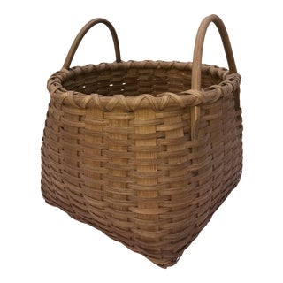 Vintage American Splint Basket, 1950s For Sale