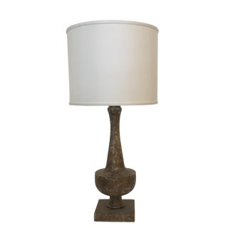 Rustic Urn Shaped Lamp For Sale