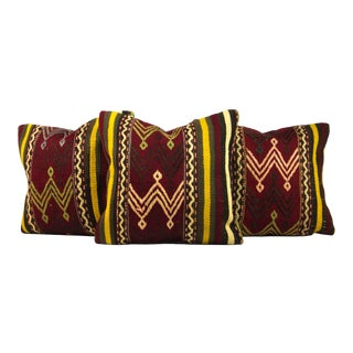 Vintage Turkish Pillow Covers - Set of 3 For Sale