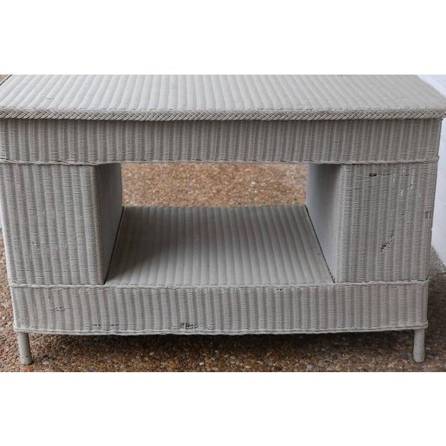 Vintage Wicker Library Table For Sale In Houston - Image 6 of 7