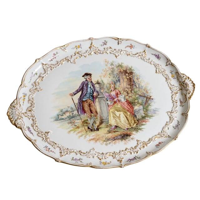 Meissen Porcelain Pastoral Scene Platter For Sale