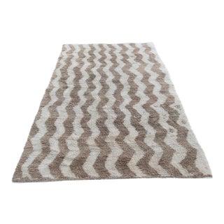 Turkish Handwoven Wool Rug - 3′10″ × 6′7″ For Sale