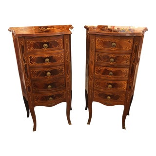 Vintage Italian Marquetry Chests - A Pair