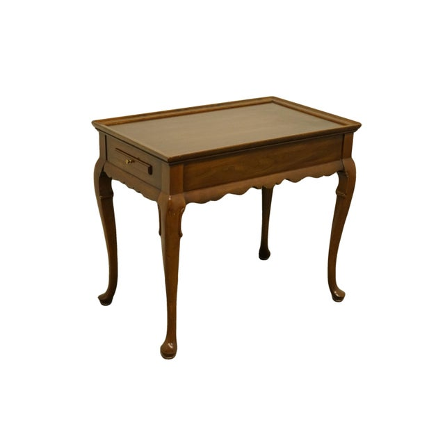 "Ethan Allen Georgian court 30x18"" accent end / tea table. We specialize in high end used furniture that we consider to be..."