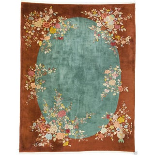Art Deco Chinese Rug - 9' X 12' For Sale