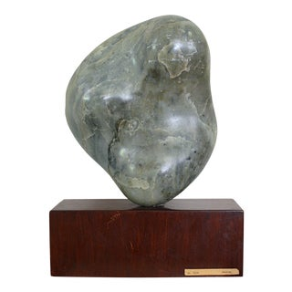 Noguchi Inspired Modernist Abstract Minimalist Stone Sculpture