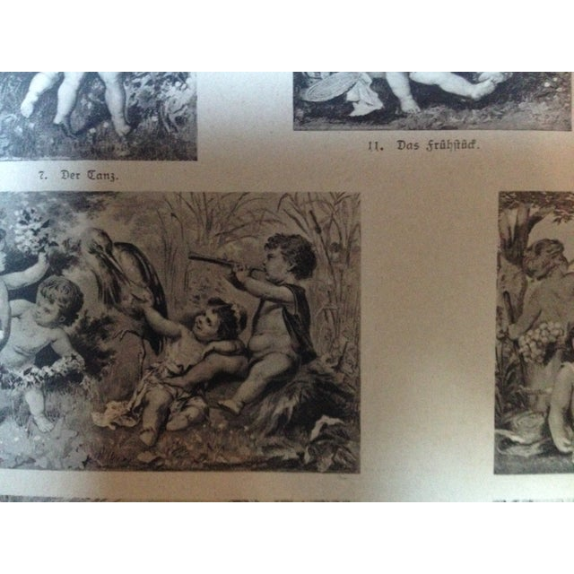 Traditional Vintage German Decorative Cherub Print For Sale - Image 3 of 4