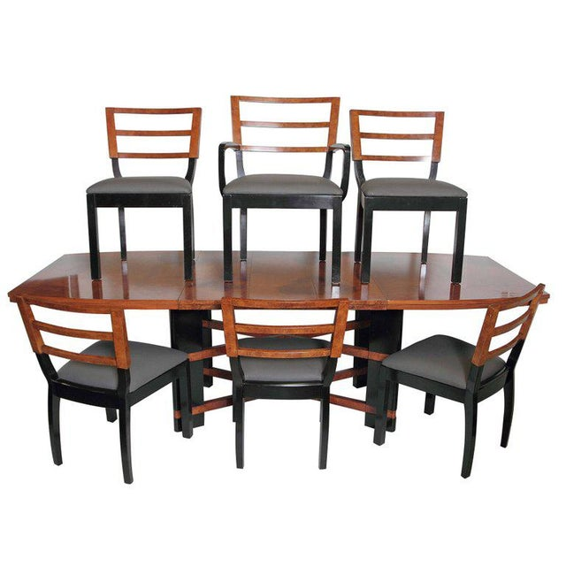 Art Deco Hastings Dining Table / Chairs Double X-Base Teague / Deskey For Sale - Image 11 of 11