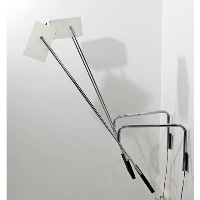 Mid-Century Modern Mid Century Modern Pair Sonneman Adjustable Chrome Light Fixtures Sconces- A Pair For Sale - Image 3 of 8