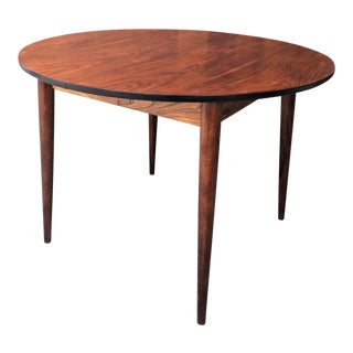 1960s Danish Modern Walnut Dining Table For Sale