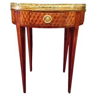 19th Century French Inlaid Bouillotte Table