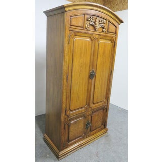 Thomasville French Style Walnut & Burl Carved Armoire Preview