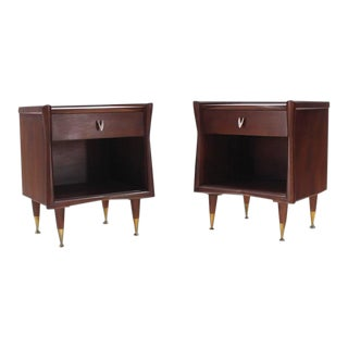 Vintage Mid Century American Modernist End Tables- a Pair For Sale