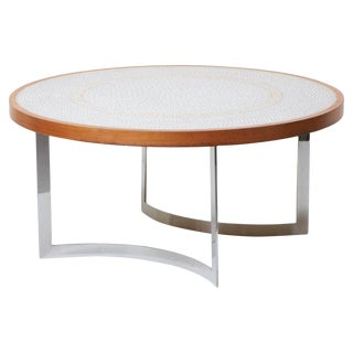 Huge Mosaic Coffee Table by Berthold Müller, Germany, 1967 For Sale