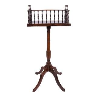 Early 19th Century Regency Rosewood Book Caddy on Later Stand For Sale