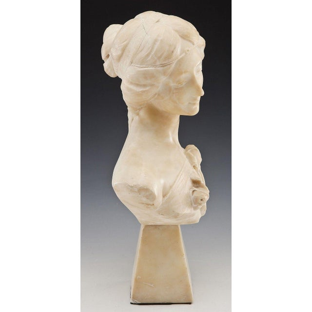 Roman Neoclassical Carved Marble Bust - Image 3 of 7