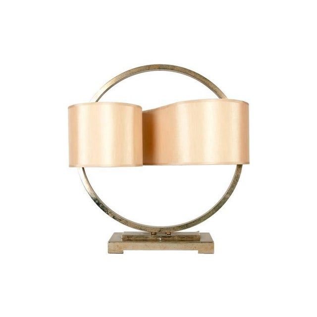 Minimalism Modernist Table Lamp with Continuous Shade For Sale - Image 3 of 3