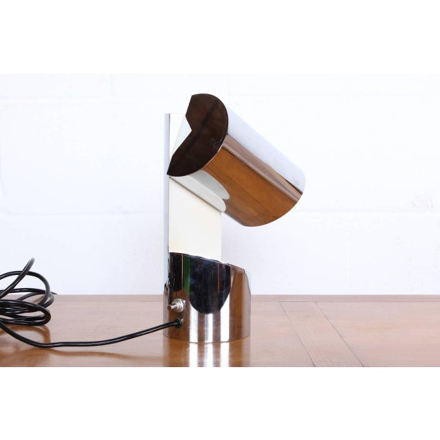 Silver Pivoting Table Lamp by Arredoluce For Sale - Image 8 of 10