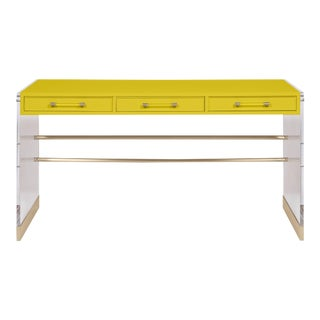 Casa Cosima Arden Desk with Taper Leg Base, Citrus Burst For Sale