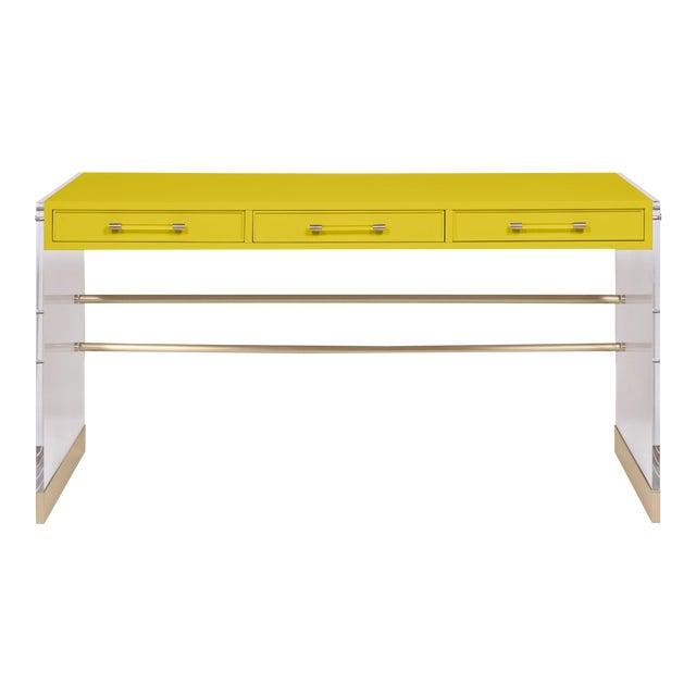 Casa Cosima Arden Desk with Taper Leg Base, Citrus Burst For Sale