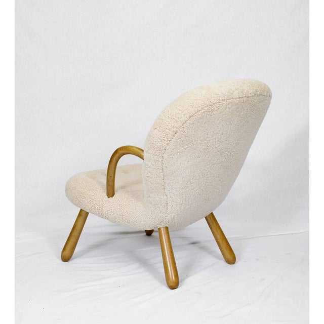 "Wood Pair of Philip Arctander ""Clam"" Chairs For Sale - Image 7 of 10"