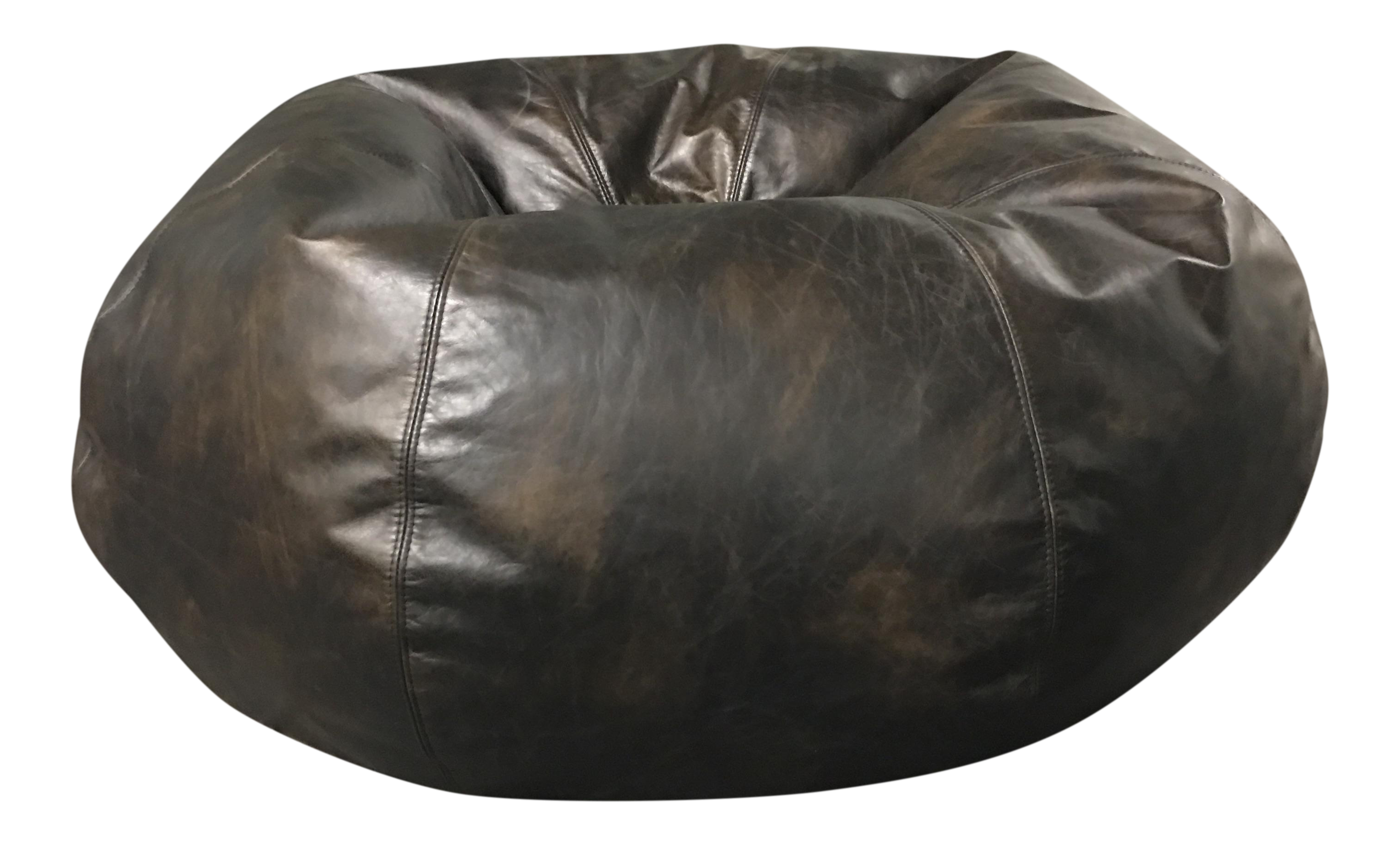 Restoration Hardware Grand Leather Bean Bag Chair