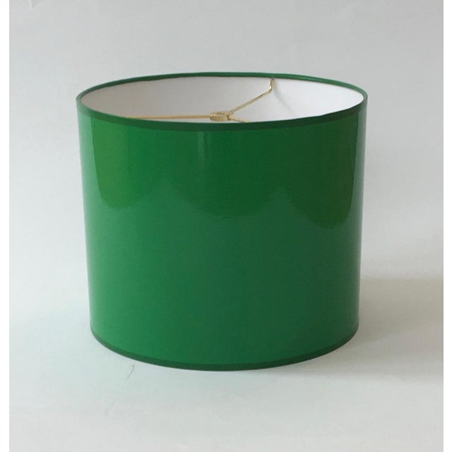 Not Yet Made - Made To Order Large Kelly Green Drum Lamp Shade For Sale - Image 5 of 7