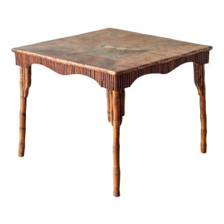 Art Deco Lacquered Bamboo Table, Circa 1920-1930 For Sale