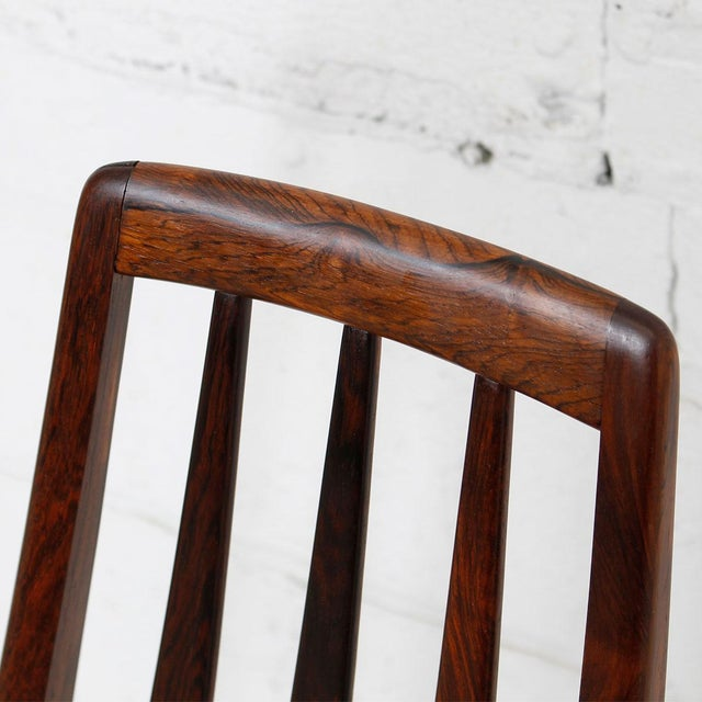 Danish Modern Koefoed Hornslet Rosewood Dining Chairs - Set of 10 For Sale - Image 3 of 8