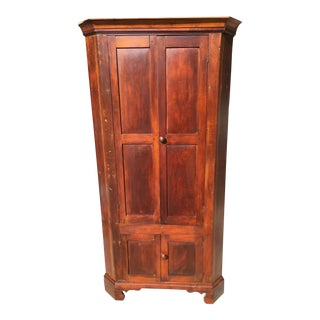 Mid-1800s Southern Made Corner Cupboard