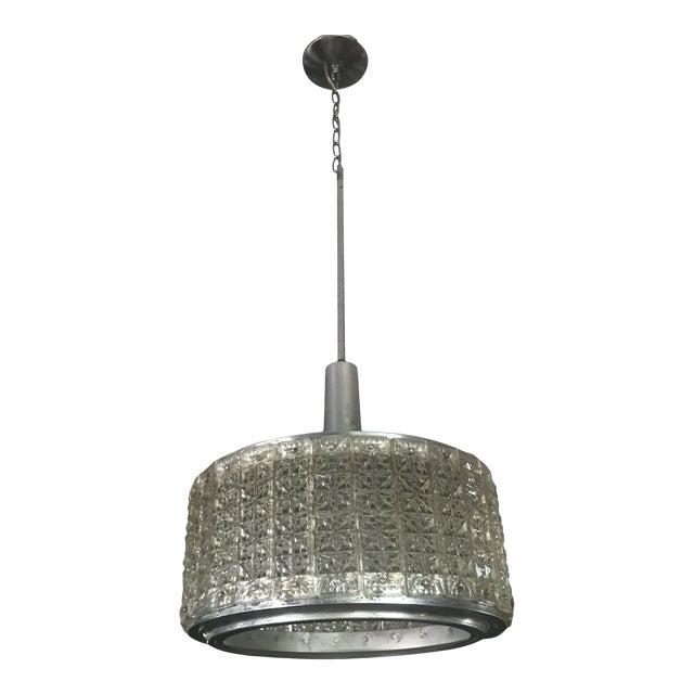Glass And Aluminum Mid Century Modern Pendant Light