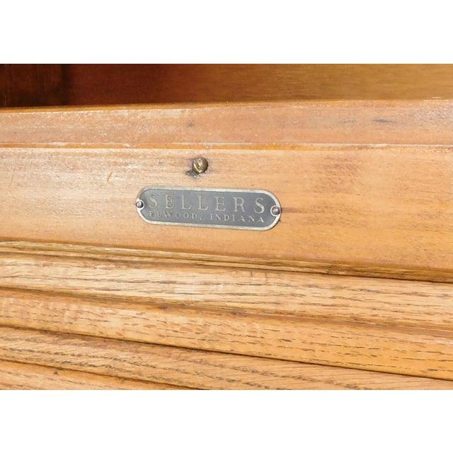 Rustic Antique Oak Sellers Indiana Hoosier Cabinet C1900 For Sale - Image 3 of 11