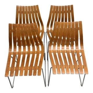 Hans Brattrud for Hove Mobler Scandia Chairs - Set of 4 For Sale