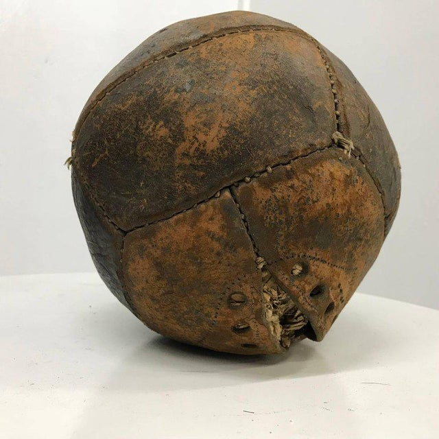 For your consideration a vintage medicine ball in leather with original vintage patina.