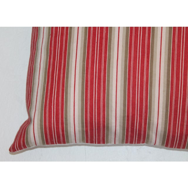 Country Deep Red background With White Stripes For Sale - Image 3 of 5