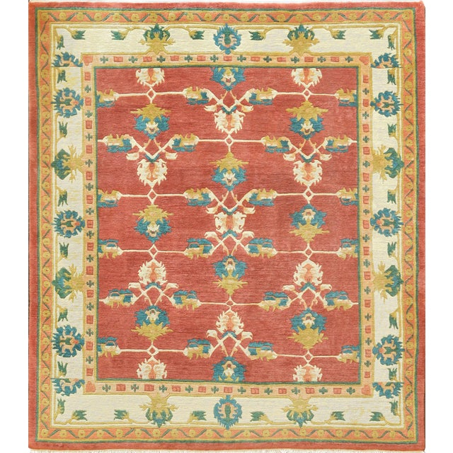 Mansour Fine Quality Tibetan Rug - 8′ × 9′ For Sale
