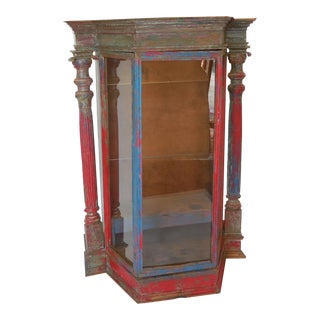 Large-Scale Antique Saint Display Case For Sale