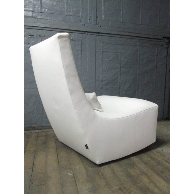 Leather Lounge Chair and Ottoman by Ligne Roset For Sale In New York - Image 6 of 10