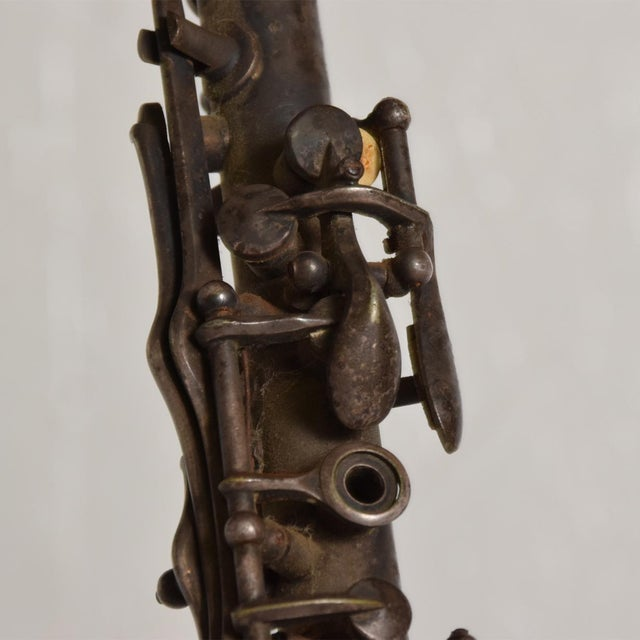 Antique Decorative European Clarinet Oboe Sterling Silverplated 38526 For Sale - Image 10 of 11