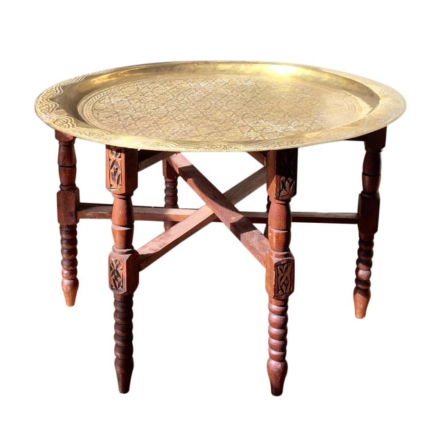Vintage Moroccan Style Tea Table - Image 1 of 5